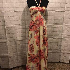 Lauren Conrad floral chiffon maxi dress